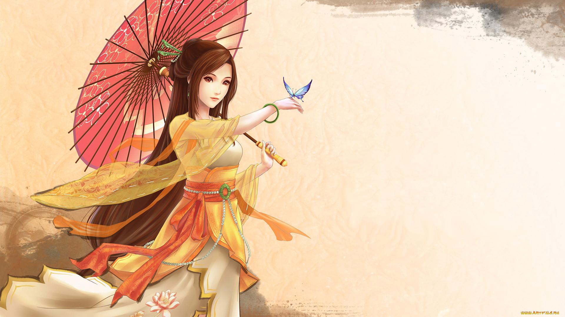 Японские рисованные девушки 2 фотография
